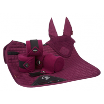 SPECIAL-OFFER-LE-MIEUX-DRESSAGE-SUEDE-SQUARE-PLUM-SET-LARGE-INCLUDES-FLY-HOOD-BANDAGES--PAD
