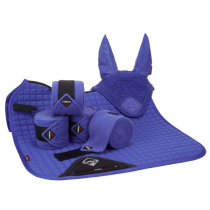 SPECIAL-OFFER-LE-MIEUX-DRESSAGE-SUEDE-SQUARE-BLUEBERRY-SET-LARGE-INCLUDES-FLY-HOOD-BANDAGES--PAD