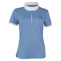HARCOUR-SS18-ISABELLA-LADIES-TECHLINE-POLO-AZURE
