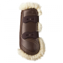 KENTUCKY-SHEEPSKIN-LEATHER-TENDON-BOOTS-ELASTIC-BROWN-