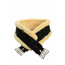 KENTUCKY-SHEEPSKIN-ELASTICATED-GIRTH-BLACK