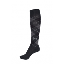 PIKEUR-AW18-KNEE-LENGTH-SOCKS-PAISLY-PATTERN-GREY