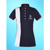 SALE-KINGSLAND-SS18-WAVERLY-LADIES-TEC-PIQUE-POLO-SHIRT-NANYBURGANDY-RRP-5900