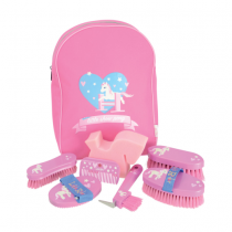 HY-LITTLE-RIDER-GROOMING-KIT-IN-RUCKSACK-PINK