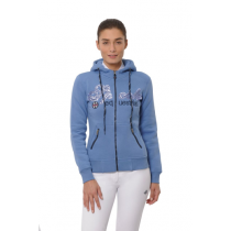 SPOOKS-AW18-ROXY-SEQUINS-HOODY-BLUE