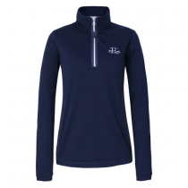 SALE-WAS-5100-NOW-4000-HARCOUR-AW18-ELECTRA-TECHLINE-WOMAN-LONG-SLEEVED-POLO-TOP-NAVY