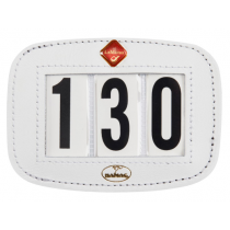 HAMAG-SQUARE-WHITE-LEATHER-SADDLE-PAD-NUMBER