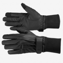 HORZE-AW19-PU-LEATHER-FLEECE-LINED-GLOVES-BLACK