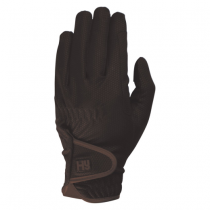 HY-COTTENHAM-ELITE-RIDING-GLOVES-BROWN
