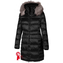 PIKEUR-PREMIUM-COLLECTION--BRENDA-LONG-COAT-IN--BLACK-WITH-FAUX-FUR-COLLAR