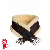 KENTUCKY-SHEEPSKIN-ELASTICATED-GIRTH-BROWN