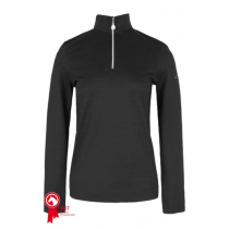 HARCOUR-ROSI-WOMANS-TECHNICAL-HALF-ZIP-LONG-SLEEVED-TOP-BLACK