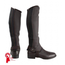 HY-LAND-SYNTHETIC-COMBO-LEATHER-HALF-CHAPS-BROWN
