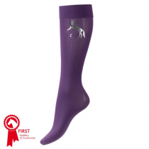 HORZE-JUNIOR-THIN-KNEE-SOCKS-WITH-BLINGY-LOGO-PURPLE-SIZE-2935