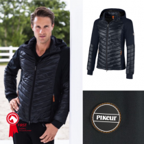 PIKEUR-AVELINO-GENTS-MATERIAL-MIX-JACKET-NAVY