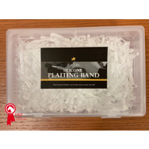 LINCOLN-SILICONE-PLAITING-BANDS-BOX-OF-1000-WHITE
