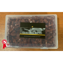 LINCOLN-SILICONE-PLAITING-BANDS-BOX-OF-1000-BROWN