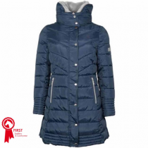 MARK-TODD-LADIES-DELUXE-LONG-PADDED-COAT-NAVY--SILVER