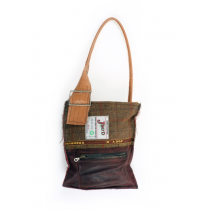JOEY-D-SHOULDER-BAG-BROWN-BUCKLE-ZIP-POCKET